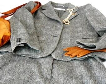 ON SALE-20% off   Max Mara suit, vintage, Prince of wales suit, cashmere suit,  original '90s