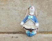 Bunny Rabbit Decor Toy - Stuffed Animal - Artist Teddy Bears - Soft Sculpture - Unique Toy