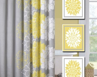 Charmant Prints Wall Art Decor Bath Popular Items For Yellow And Gray On Etsy