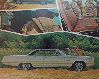 Vintage print ad from 1967 Plymouth Fury