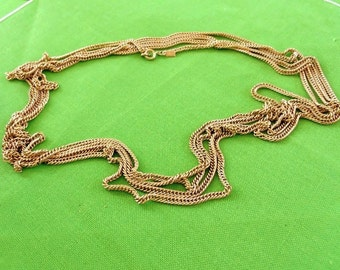 Vintage Emmons 120 Inch (304.8) Long Gold-tone Chain Necklace (Item 487)