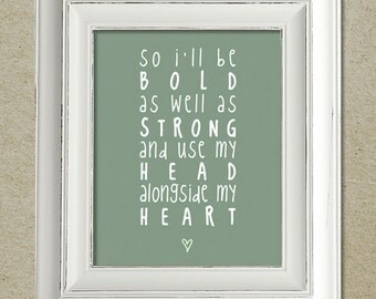 mumford & sons art print / i will wait lyrics