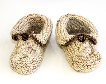 KNITTING PATTERN, PDF, Baby Slippers Pattern, Seamless Booties Pattern, Toddler Slippers, Cable Knit Slipper Pattern