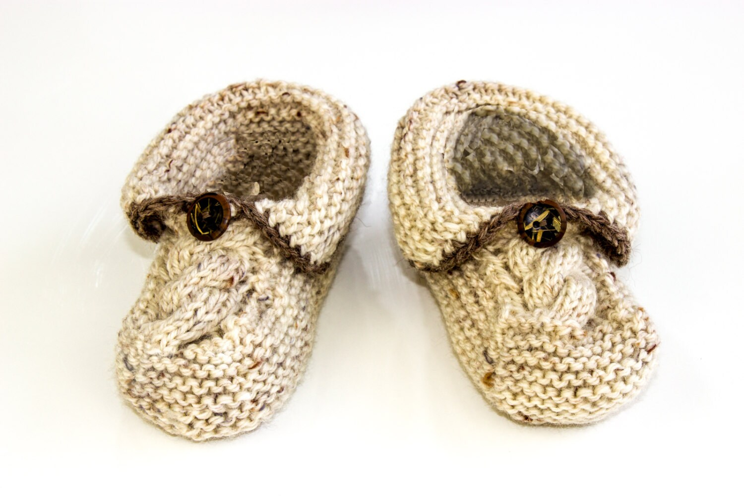 Knitting Patterns For Seamless Baby Booties : KNITTING PATTERN PDF Baby Slippers Pattern Seamless Booties