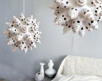White Towers a Paper Pulp Lamp