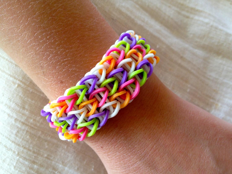 Rainbow Loom Friendship Bracelet Rubber Bands In Purple Pink