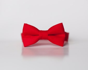 Little Boy red Bowtie solid  Red tie-  Boys Bow Ties  - Baby bow tie - toddler bow ties