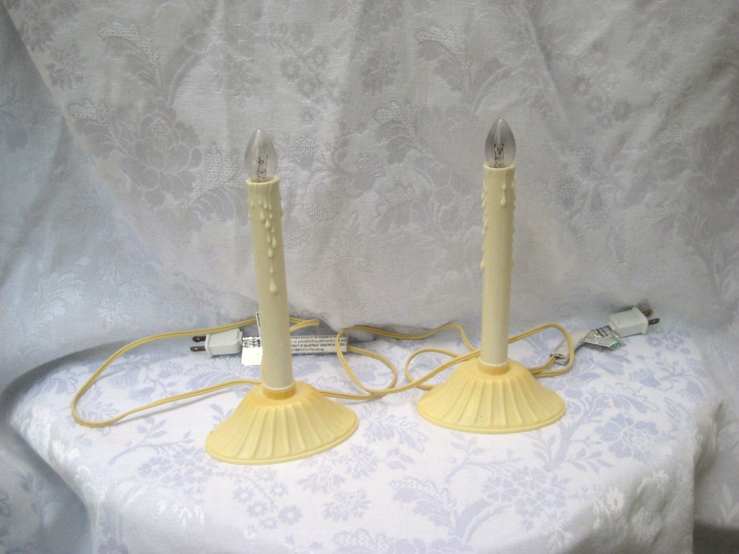 Plastic window candles Christmas candles holiday electric