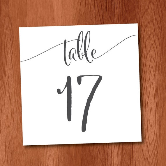 Zany image with regard to diy printable table numbers
