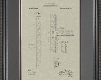 Erector Set Patent Artwork Toy Game Gift G6809