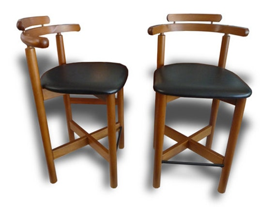 Mid Century Modern Gangso Mobler Pair of Teak Bar Stools : il570xN489398929gave from www.etsy.com size 500 x 375 jpeg 29kB