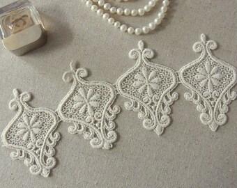 Motive Crochet Cotton Vintage Chic Lovely Lace 1yard #4011
