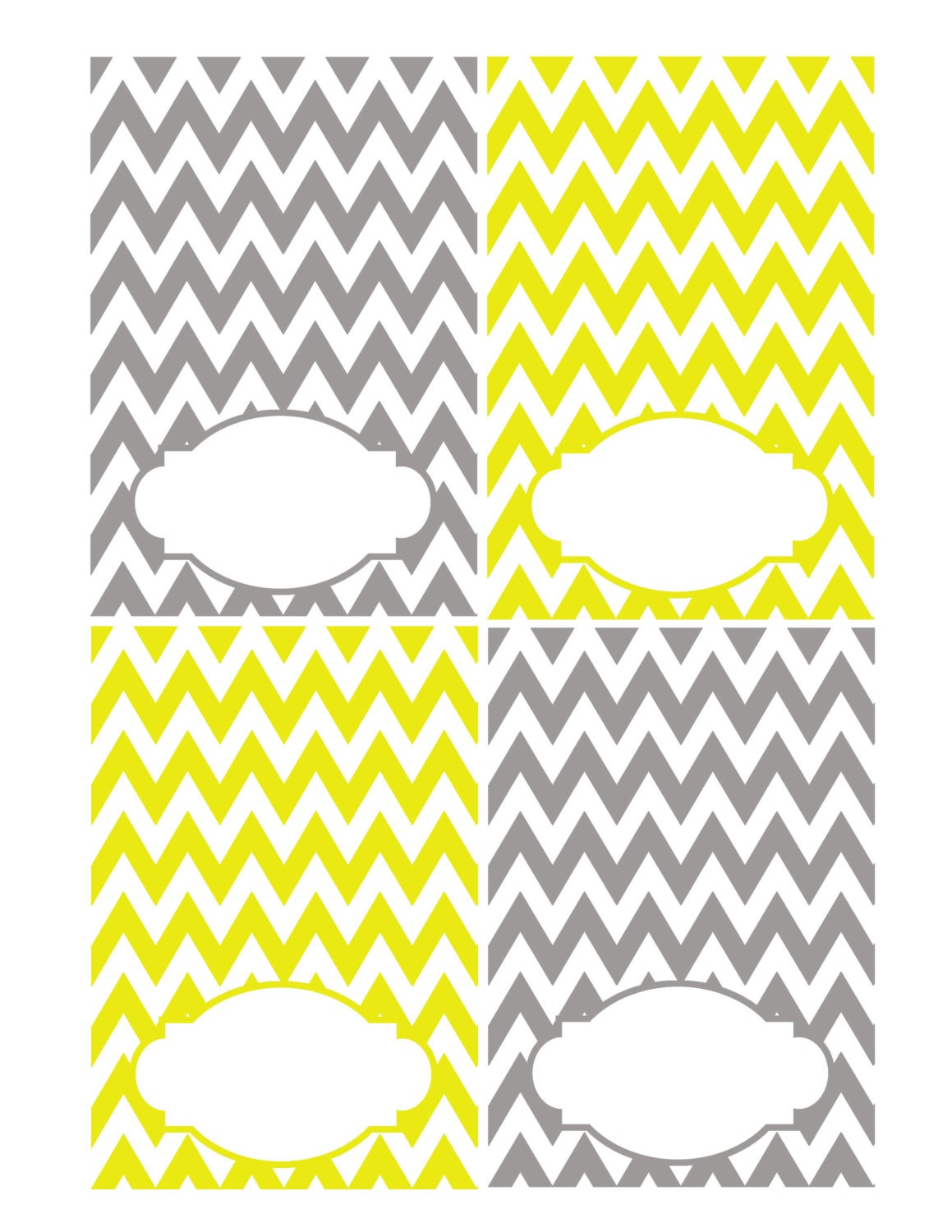 Gray and yellow place card printable table by for Table place cards