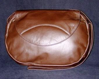 Large Oval Flap Bag