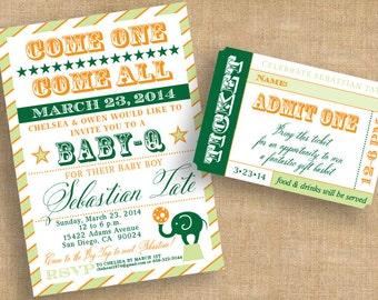 Print-It-Yourself Circus Birthday Invitation