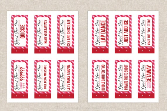 Naughty coupon book printable valentine s day by dearhenrydesign