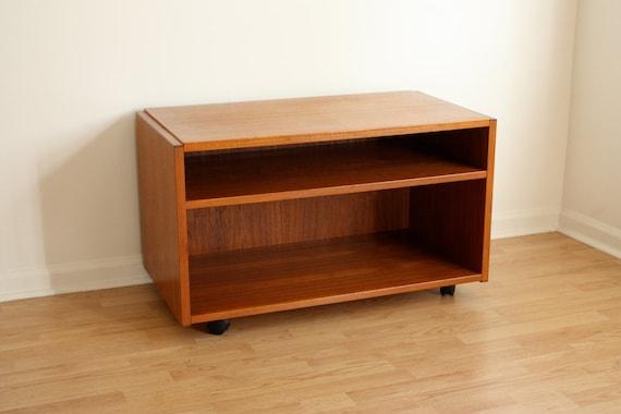 vintage danish modern teak tv stand mid century modern. Black Bedroom Furniture Sets. Home Design Ideas