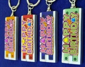 Mini Flashlight Key Ring HAPPY BIRTHDAY Greetings