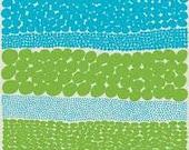 Marimekko Jurmo Blue/Green fabric offcut / remnant - OffCutRoom