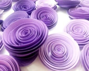 Purple Paper Flowers, Wedding Paper Bouquet, Ombre Purple Paper Flowers, Baby Shower Decor, Bridal Shower Decor, Wedding Paper Flowers