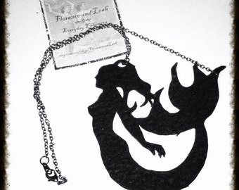Up Cycled Leather Mermaid Necklace