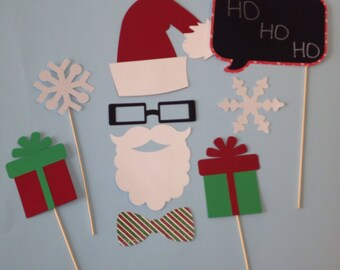 9 Piece Santa Photobooth Prop Set