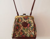 Vintage Floral Long Strap Purse COUPON CODE