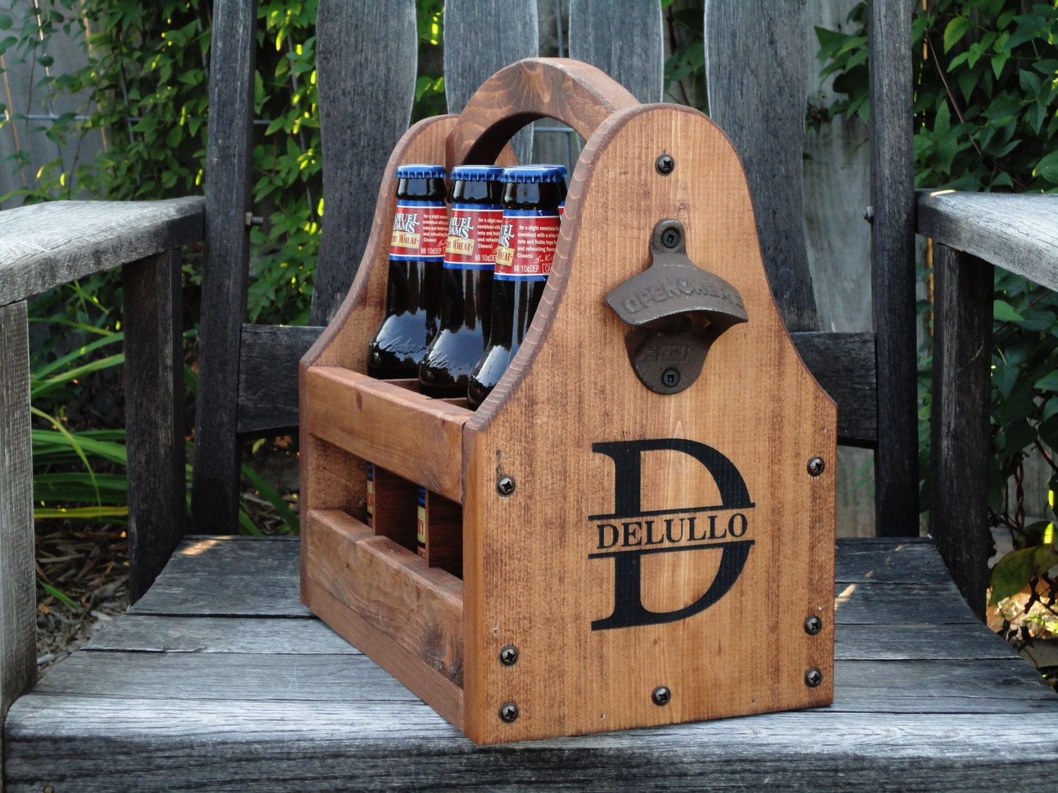 Wooden Beer Tote Personalized By RusticCreekWoodProd