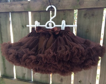 Brown Pettiskirt XL(6-8)