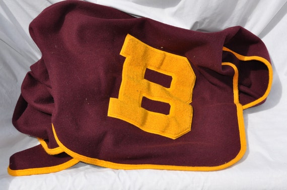 vintage varsity letterman blanket football maroon and by With varsity letter blankets