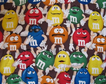 "1/2 yard of 100% cotton ""M&M"" Fabric"
