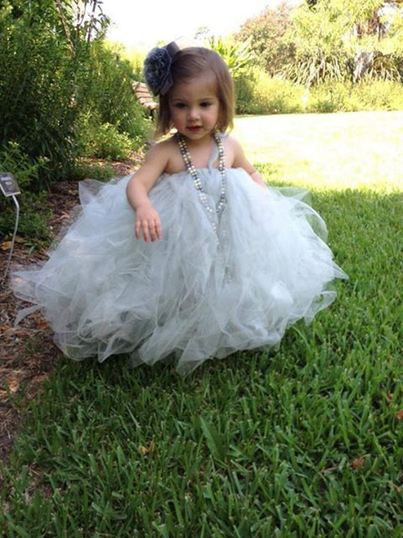 Items similar to Tulle Fairy Princess Flower girl dress on ...
