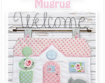 Little Cottage Mugrug 5x7  ITH Machine Embroidery Designs
