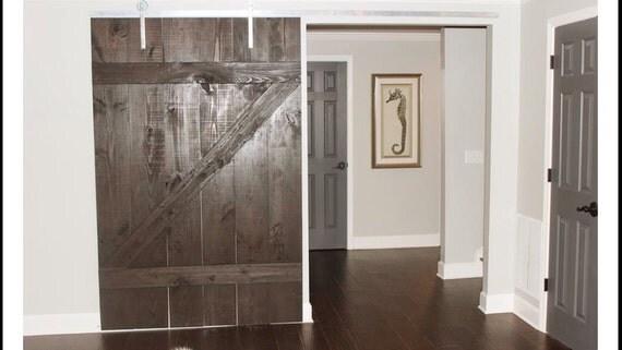 Items Similar To Barn Door Wood Interior Door Reclaimed Kona Stain Wood Home Decor On Etsy
