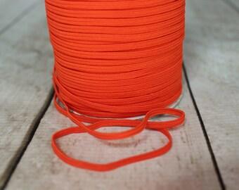Orange Skinny Elastic 1/8 inch - Elastic For Baby Headbands - 5 Yards
