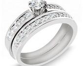 1.15 Carat The Famous Diamond Wedding Set