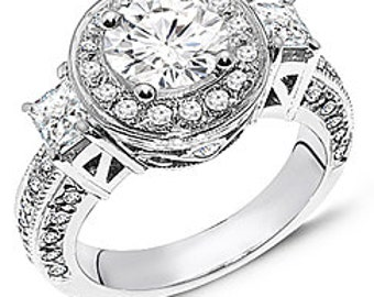 2 1/4 Ct Diamond Engagement Ring