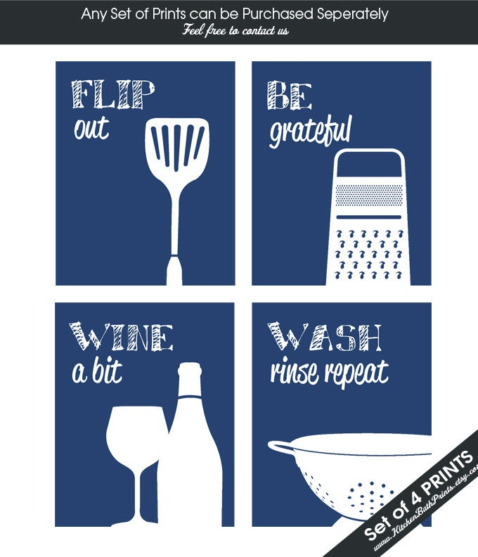 Funny kitchen art print set spatula cheese grater wine for Funny kitchen set