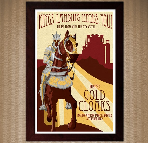 Gold Cloaks Recruitment Poster - Game of Thrones