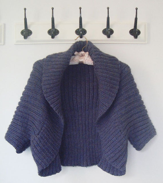 Aran Shrug. PDF Knitting Pattern.