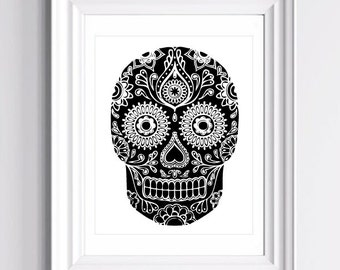 Day of the Dead - Dia de los Muertos - Available In All colors - Art Print  - 11 x 14 in. or 12 x 18 in.