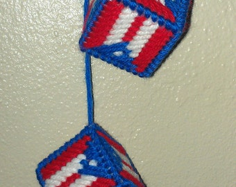 Puerto Rican Flag Car Dice