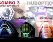 3 LED Bandanas Light Up Raver Masks Combo: Sound Reactive for laser stage show DJ costume LED Rave edc ultra dubstep halloween cosplay party