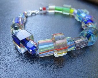 Cane glass beaded bracelet