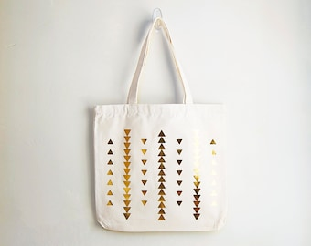 Tribal Gold Triangle Bag