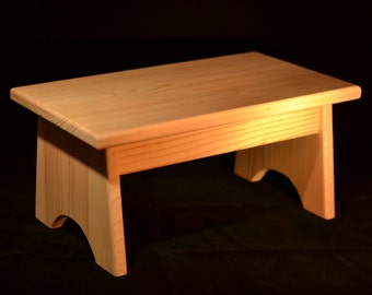 "Wood Step Stool Unfinished Pine 16""L x 9""W x 7.5""H"