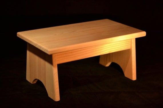 Wood Step Stool Unfinished Pine 16l X 9w X