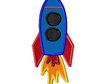 INSTANT DOWNLOAD Space Rocket Machine Applique Embroidery Design
