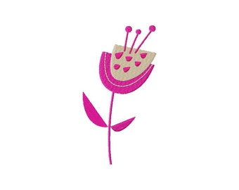 INSTANT DOWNLOAD Cheerful Floral Machine Embroidery Design