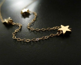 Sophie, Necklace, Movie, Inspired, Triple, Star, Gold filled Chain, Gold, Necklace, Birthday, Lovers, Friends, Gift, Accessory, Jewelry